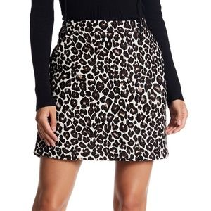 SANCTUARY Leopard Print Tweed Mini Skirt